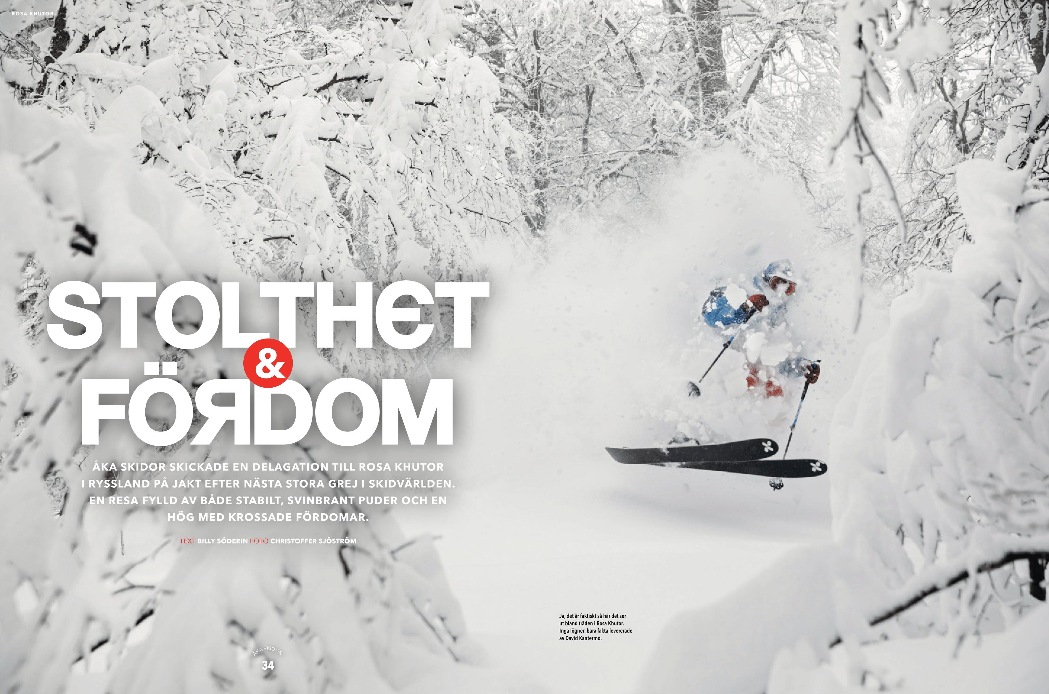 Åka Skidor Sochi article - front page